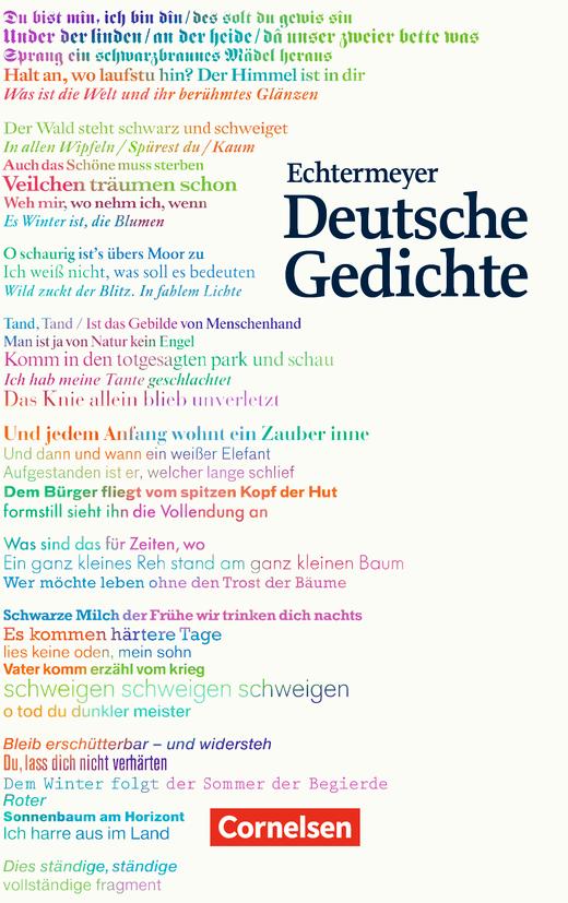 Echtermeyer: Deutsche Gedichte - Gedichtband