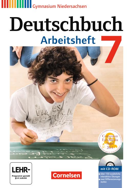 Deutschbuch Gymnasium - Arbeitsheft mit Lösungen und Übungs-CD-ROM - 7. Schuljahr