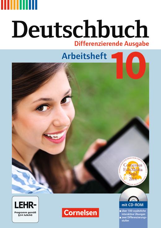 Deutschbuch - Arbeitsheft mit Lösungen und Übungs-CD-ROM - 10. Schuljahr