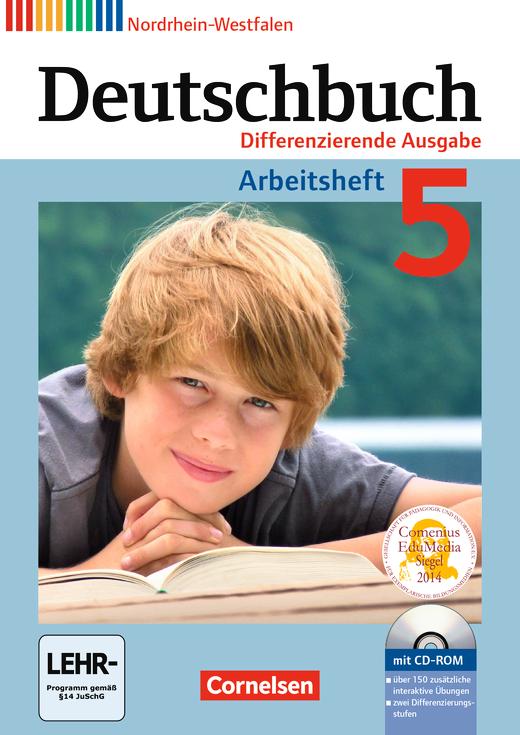 Deutschbuch - Arbeitsheft mit Lösungen und Übungs-CD-ROM - 5. Schuljahr
