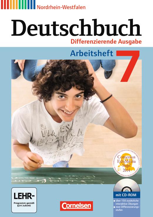 Deutschbuch - Arbeitsheft mit Lösungen und Übungs-CD-ROM - 7. Schuljahr