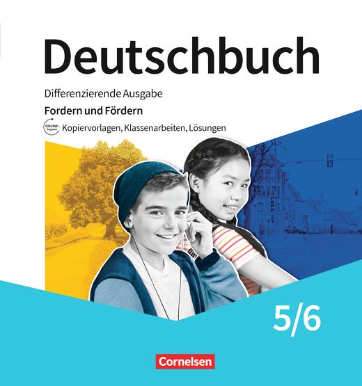 Deutschbuch - Differenzieren und Fördern - Tests, Kopiervorlagen, Lösungsblätter - Fördermaterialien im Ordner - 5./6. Schuljahr