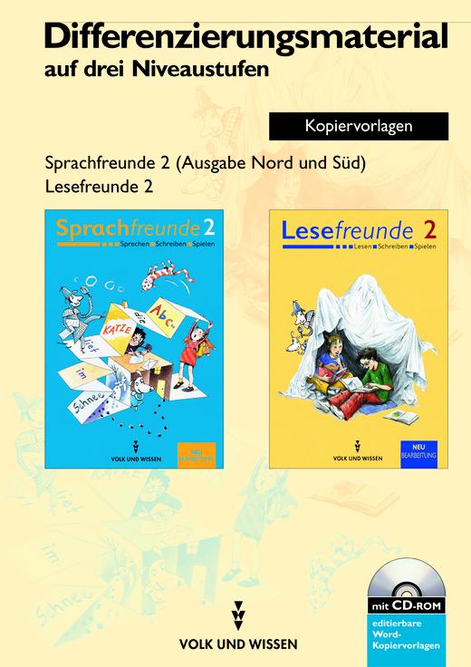 Sprachfreunde / Lesefreunde - Differenzierungsmaterial auf drei Niveaustufen - Kopiervorlagen mit CD-ROM - 2. Schuljahr