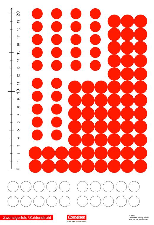 Klick! Mathematik - Unterstufe - Kartonbeilage Zwanzigerfeld / Zahlenstrahl - 2. Schuljahr