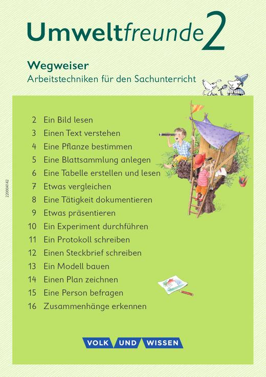 Umweltfreunde - Wegweiser Arbeitstechniken - 2. Schuljahr
