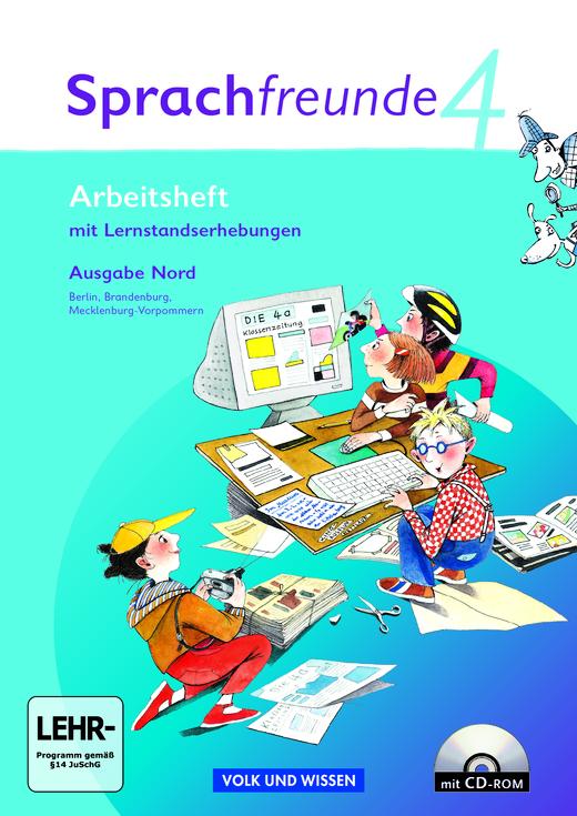 Sprachfreunde - Arbeitsheft mit CD-ROM - 4. Schuljahr