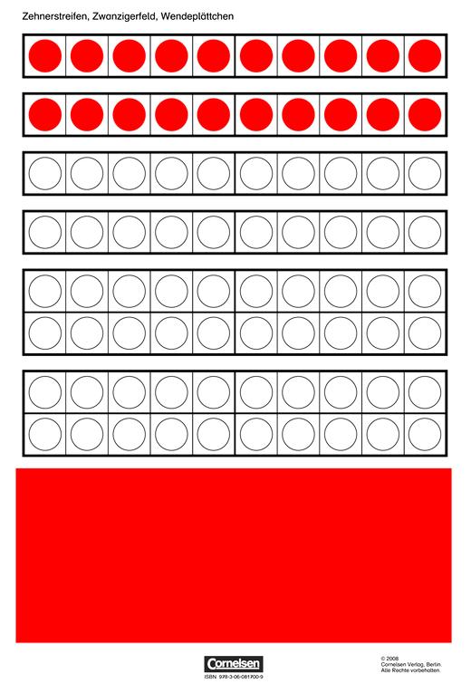 Jo-Jo Mathematik - Zehnerstreifen, Zwanzigerfeld, Wendeplättchen - Kartonbeilagen - 1. Jahrgangsstufe