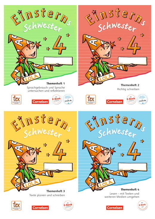 Einsterns Schwester - Themenhefte 1-4 und Projektheft mit Schuber - 4. Schuljahr