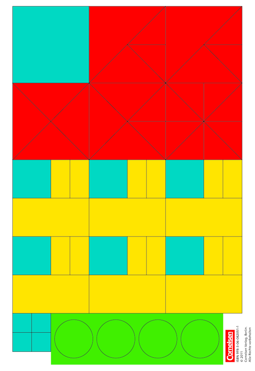eins-zwei-drei - Geometrische Formen - Kartonbeilagen - 1. Schuljahr