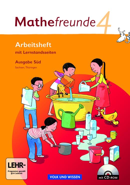 Mathefreunde - Arbeitsheft mit CD-ROM - 4. Schuljahr