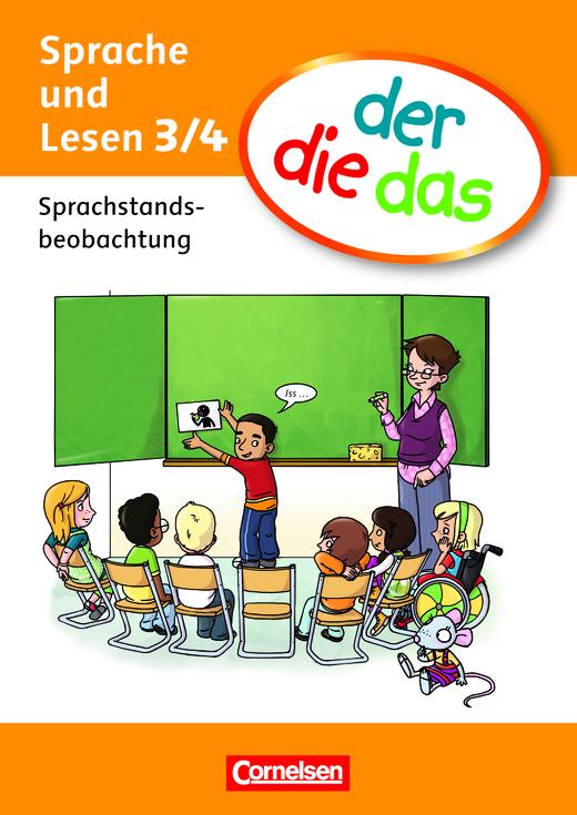 der-die-das - Sprachstandsbeobachtung mit Beileger (8 Seiten) - 3./4. Schuljahr