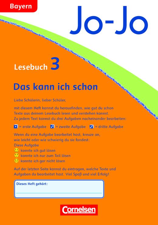 Jo-Jo Lesebuch - Lernspurenheft - 3. Jahrgangsstufe