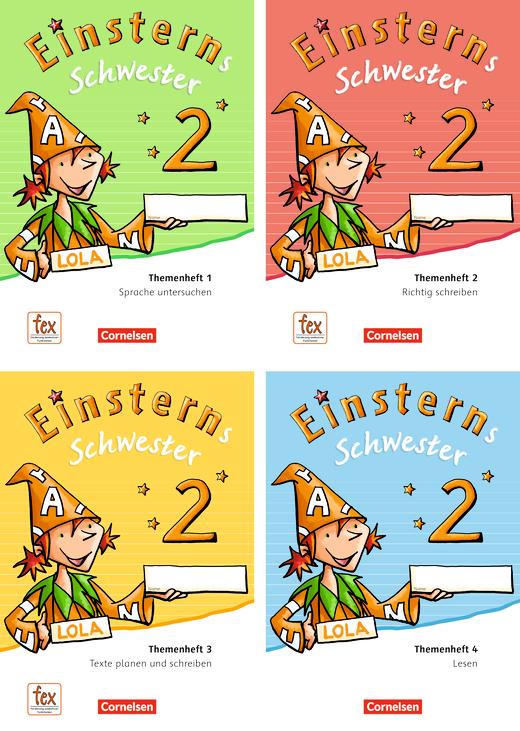 Einsterns Schwester - Themenhefte 1-4 und Projektheft mit Schuber - 2. Schuljahr