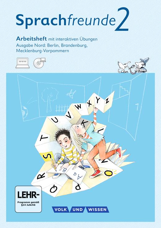 Sprachfreunde - Arbeitsheft mit interaktiven Übungen auf scook.de - 2. Schuljahr