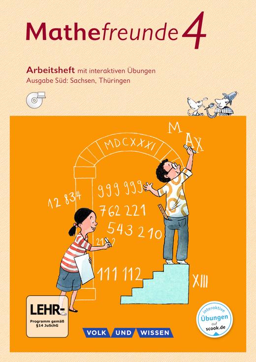 Mathefreunde - Arbeitsheft mit interaktiven Übungen auf scook.de - 4. Schuljahr