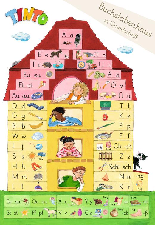 Tinto 1 - Buchstabenhaus Grundschrift - 1. Schuljahr