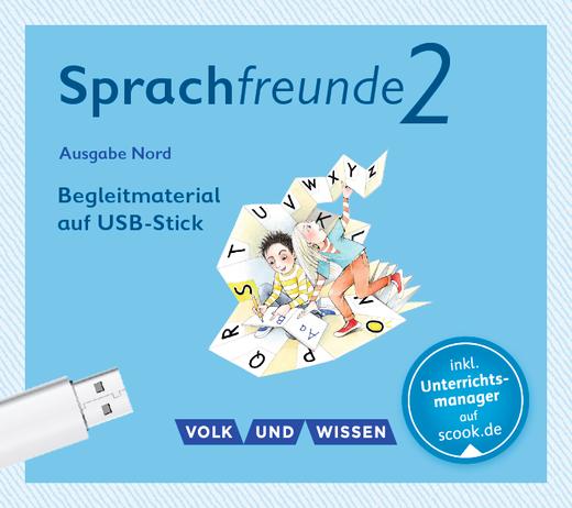 Sprachfreunde - Begleitmaterial auf USB-Stick - 2. Schuljahr
