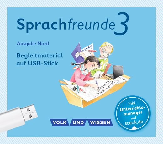 Sprachfreunde - Begleitmaterial auf USB-Stick - 3. Schuljahr