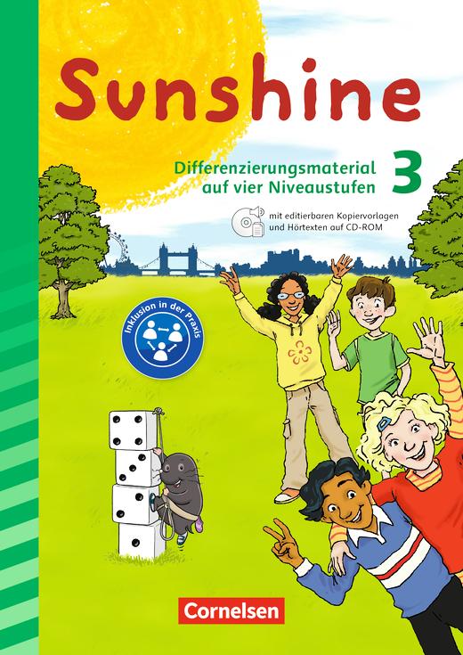 Sunshine - Differenzierungsmaterial auf vier Niveaustufen - 3. Schuljahr