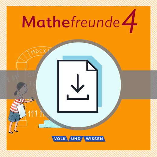 Mathefreunde - Lösungen zum Arbeitsheft Fördern als Download - 4. Schuljahr