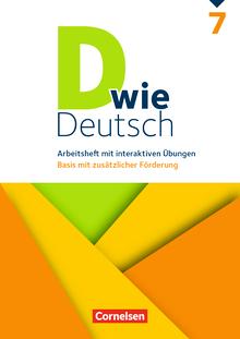 D wie Deutsch - Arbeitsheft mit interaktiven Übungen auf scook.de - 7. Schuljahr