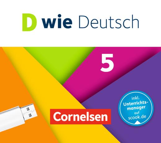 D wie Deutsch - Begleitmaterial auf USB-Stick - 5. Schuljahr