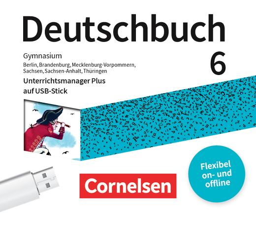 Deutschbuch Gymnasium - Unterrichtsmanager Plus auf USB-Stick - 6. Schuljahr