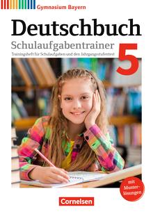 Deutschbuch Gymnasium - Schulaufgabentrainer mit Lösungen - 5. Jahrgangsstufe