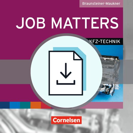 Job Matters - Kfz-Technik - Handreichungen für den Unterricht als Download - A2