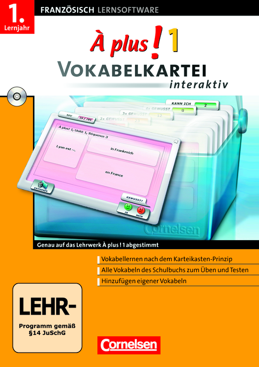 À plus ! - Vokabelkartei interaktiv - CD-ROM - Band 1