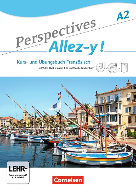 Perspectives - Allez-y ! - Kurs- und Übungsbuch mit Lösungsheft und Vokabeltaschenbuch - A2