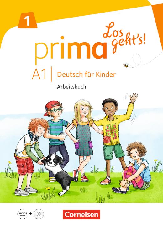 Prima - Los geht's! - Arbeitsbuch mit Audio-CD und Stickerbogen - Band 1