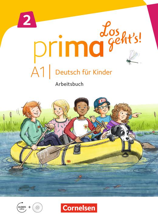 Prima - Los geht's! - Arbeitsbuch mit Audio-CD und Stickerbogen - Band 2