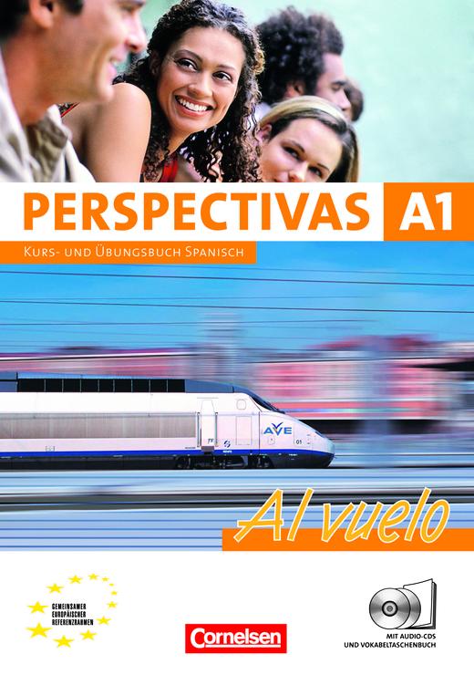 Perspectivas - Al vuelo - Kurs- und Arbeitsbuch mit Lösungsheft - A1