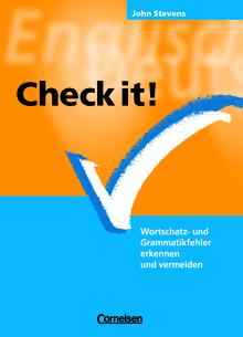 Check it! - Wortschatz- und Grammatikfehler erkennen und vermeiden - Practice Book mit eingelegtem Lösungsschlüssel