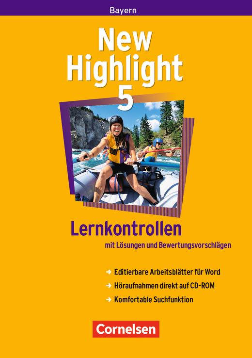 New Highlight - Lernkontrollen - CD-Extra mit Lösungen und Bewertungsvorschlägen - Band 5: 9. Jahrgangsstufe
