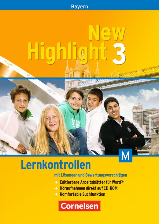 New Highlight - Lernkontrollen für M-Klassen - CD-Extra mit Lösungen und Bewertungsvorschlägen - Band 3: 7. Jahrgangsstufe