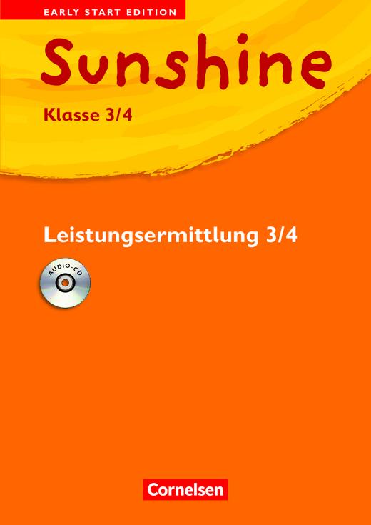 Sunshine - Leistungsermittlungsheft mit Hör-CD - Band 3/4: 3./4. Schuljahr