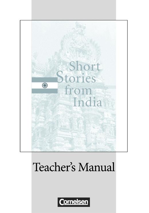 Cornelsen Senior English Library - Short Stories from India - Teacher's Manual mit Klausurvorschlag - Ab 11. Schuljahr