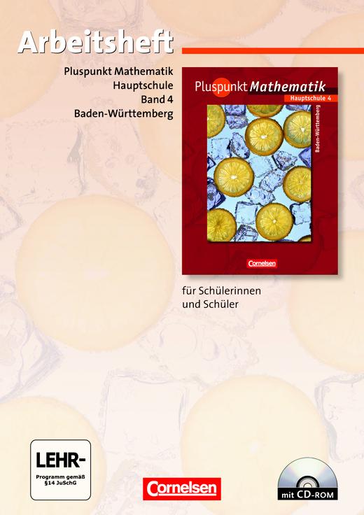 Pluspunkt Mathematik - Arbeitsheft mit Lösungen und CD-ROM - Band 4