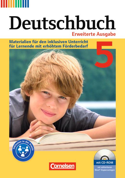 Deutschbuch - Materialien für den inklusiven Unterricht für Lernende mit erhöhtem Förderbedarf - Kopiervorlagen mit CD-ROM - 5. Schuljahr