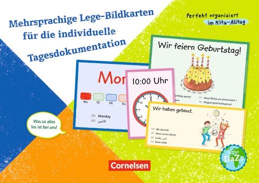 Perfekt organisiert im Kita-Alltag - Mehrsprachige Lege-Bildkarten für die individuelle Tagesdokumentation - Was so alles los ist bei uns! - 50 Bildkarten