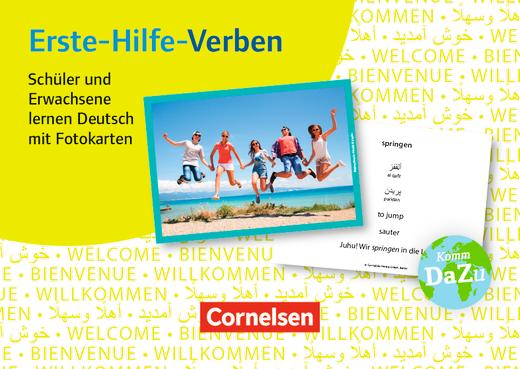 Deutsch lernen mit Fotokarten - Sekundarstufe I/II und Erwachsene - Erste-Hilfe-Verben - 100 Fotokarten