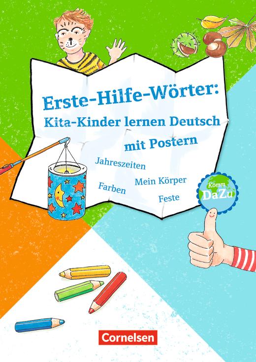 erste hilfe w rter kita kinder lernen deutsch mit postern jahreszeiten mein k rper farben. Black Bedroom Furniture Sets. Home Design Ideas