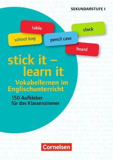 Aufkleber für den Fremdsprachenunterricht - stick it - learn it - Vokabellernen im Englischunterricht - 150 Aufkleber für das Klassenzimmer - 5 Stickerbögen - Klasse 5-10