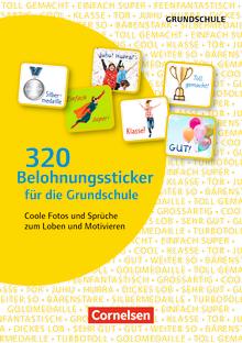 320 Belohnungssticker für die Grundschule - Coole Fotos und Sprüche zum Loben und Motivieren - 8 Stickerbögen