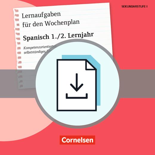 Lernaufgaben für den Wochenplan - Spanisch: 1./2. Lernjahr - Kompetenzorientiertes, selbstständiges Lernen - Kopiervorlagen als PDF
