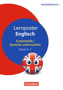 Lernposter für die Sekundarstufe - Lernposter Englisch - Grammatik / Sprache untersuchen Klasse 5-7 - 4 Poster