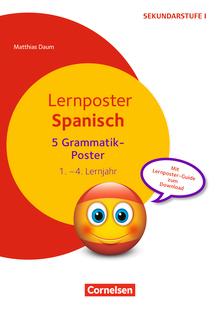 Lernposter für die Sekundarstufe - Lernposter Spanisch - Grammatik - 1.-4. Lernjahr - 5 Poster