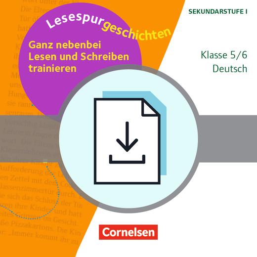 Lesespurgeschichten für die Sekundarstufe I - Ganz nebenbei Lesen und Schreiben trainieren - Differenzierte Kopiervorlagen mit Lösungen - Kopiervorlagen als PDF - Klasse 5/6